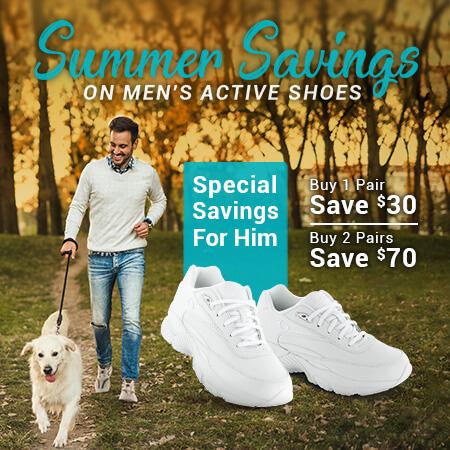 Summer Savings on Mens's Active Shoes
