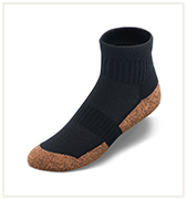 Ankle High Black Copper Cloud Socks