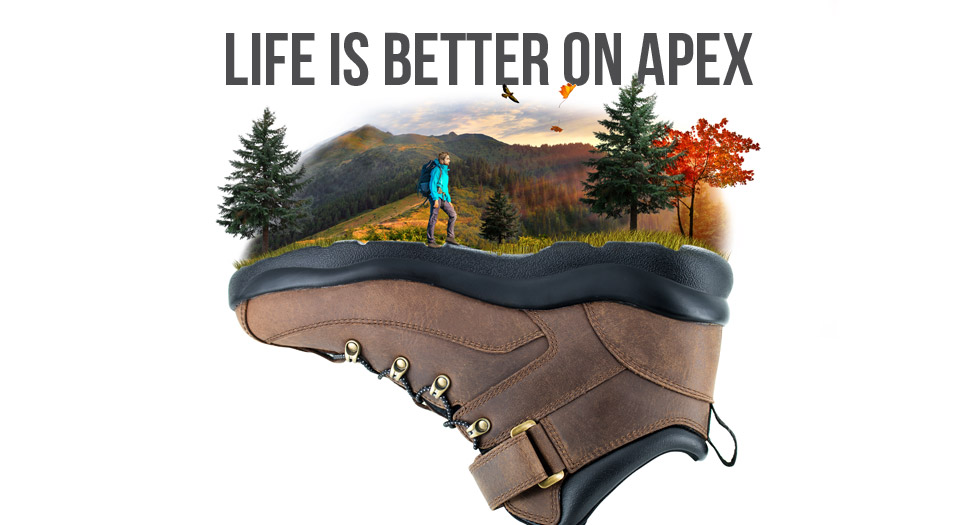 Life is better on Apex: Apex Sierra hiking shoes